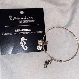 ALEX AND ANI silver Seahorse bracelet